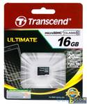 Карта памяти MicroSDHC 16GB Transcend Class 10