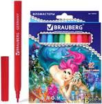 """Фломастеры BRAUBERG """"Морские легенды"""", 12 цветов, вентилируемый колпачок, картонная упаковка с блест"""