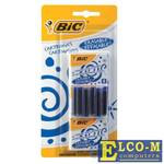 Картриджи чернильные BIC, комплект 24 шт., блистер, синие, 888751