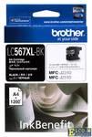 Картридж Brother LC567XLBK черный (black) 1200 стр.