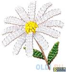 Набор для творчества Клевер Цветы из бисера Жемчужная ромашка АА 05-604