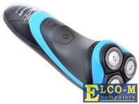Бритва Philips AT750/16 AquaTouch, роторная, сухое/влажное, аккум на 40 мин, 3 плавающие головки, черный/синий