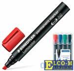 """Набор маркеров перманентных Staedtler """"Lumocolor"""" 2.5 мм 4 шт синий зеленый черный красный"""