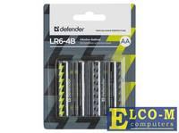 Батарейки Defender (AA) LR6-4B 4PCS 4 шт 56012