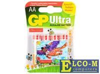 Батарейки Alkaline GP 15AUGL-2CR4 Подари жизнь АА 4 шт.