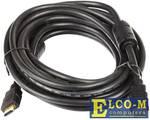Кабель HDMI-19M --- HDMI-19M ver 2.0+3D/Ethernet,2 фильтра 7.5m Telecom TCG200F-7.5M